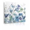 Quadro fiori blu prospettiva