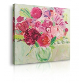quadro fiori rossi e rosa prospettiva