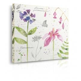 quadro fiori colori caldi prospettiva