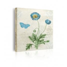 quadro fiori azzurri prospettiva