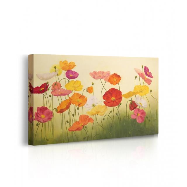 quadro con fiori colorati prospettiva