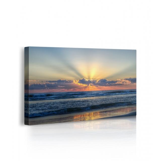 Quadro alba sul mare prospettiva