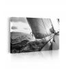 Quadro mare con barca prospettiva