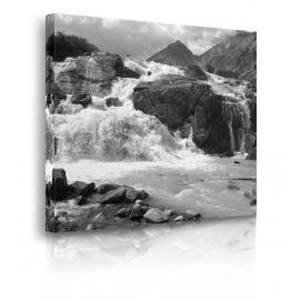 Quadro cascata in movimento prospettiva