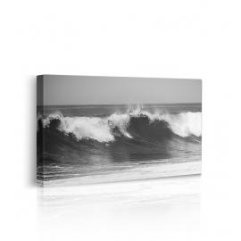 quadro bianco e nero mare prospettiva