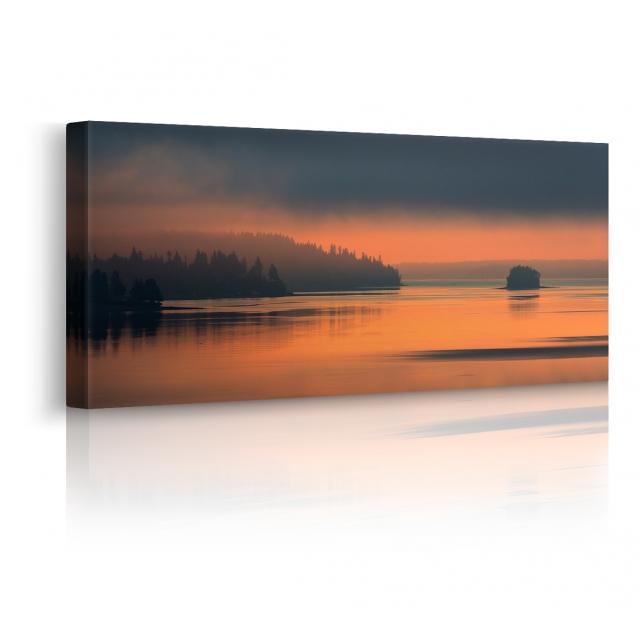 Quadro tramonto prospettiva