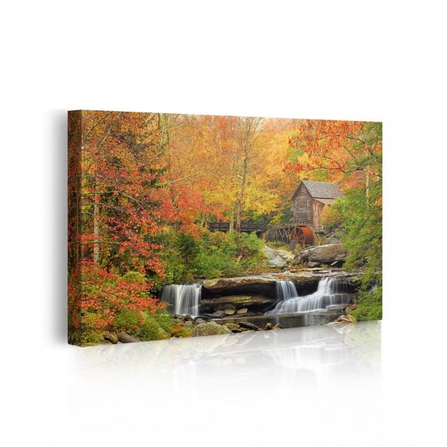 Quadro cascata in movimento autunno prospettiva