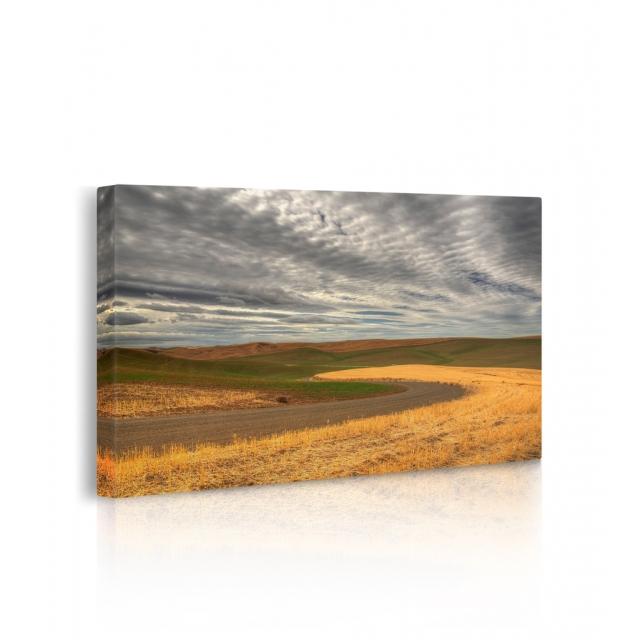 Quadro campo di grano prospettiva