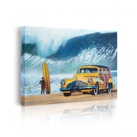 quadro spiaggia macchina