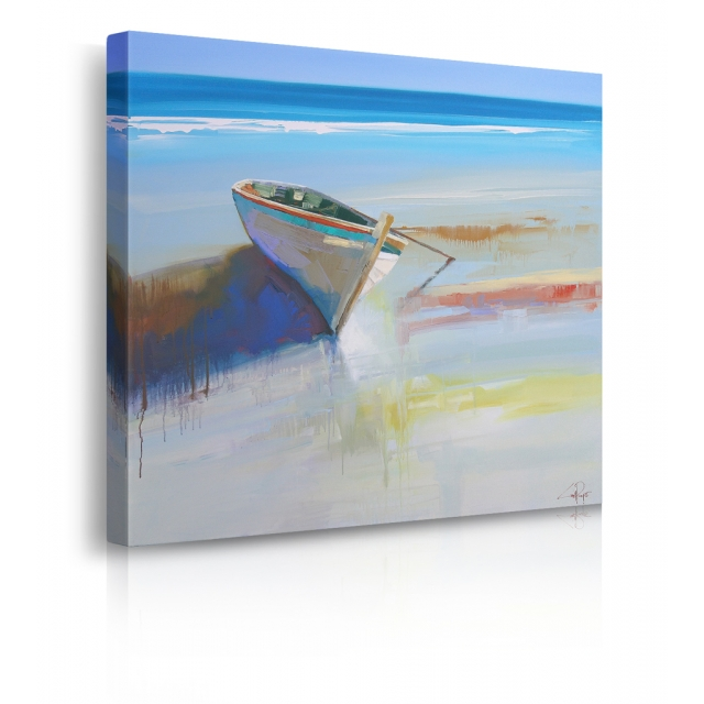 quadro barca mare prospettiva