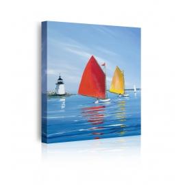 quadro barche a vela prospettiva