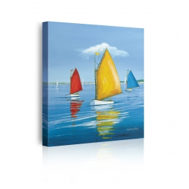 quadro barca a vela prospettiva
