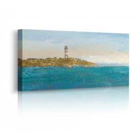 quadro spiaggia faro prospettiva