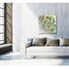 quadro astratto colori caldi ambientazione