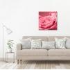 Quadro con rose rosa ambientazione