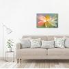 Quadro con fiori colorati ambientazione