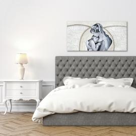 quadro maternità con ali in argento