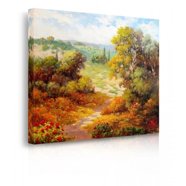 Quadro sentiero autunno