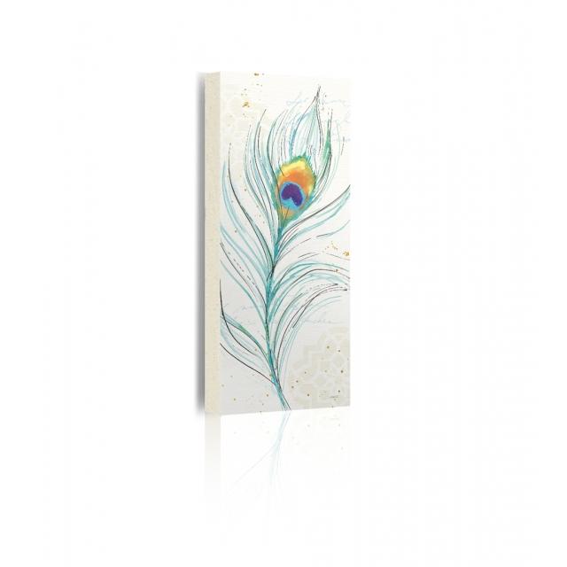 Quadro pavone fiore prospettiva