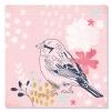 Quadro uccello con sfondo rosa