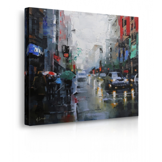 Quadro St. Catherine Street pioggia prospettiva