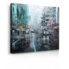 Quadro Montreal Turquoise pioggia prospettiva