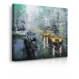 Quadro New York pioggia prospettiva
