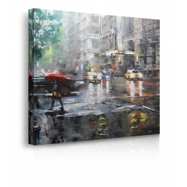 Quadro Manhattan Red Umbrella