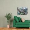 Quadro London Green - Big Ben ambientato