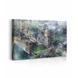 Quadro London Green - Big Ben prospettiva