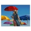 Quadro donna con ombrello al mare
