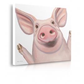 Quadro maiale sorridente prospettiva