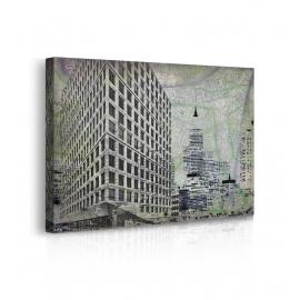Quadro paesaggio urbano prospettiva