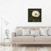 Quadro fiore bianco ambientato