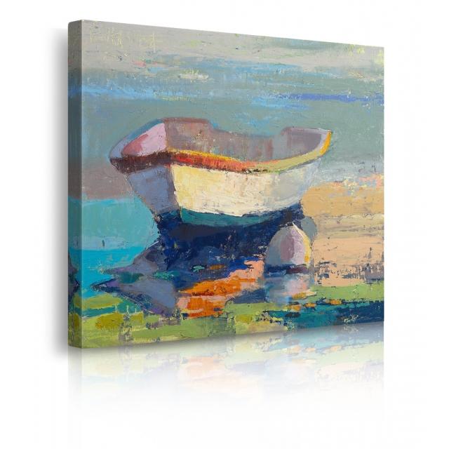 Quadro barca in legno prospettiva