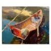 Quadro barca di legno mare