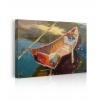 Quadro barca di legno mare prospettiva