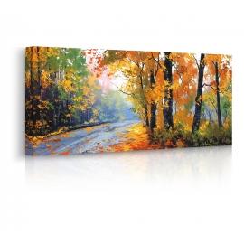 Quadro paesaggio autunno prospettiva