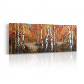 Quadro paesaggio d'autunno prospettiva
