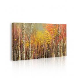 Quadro paesaggio colori d'autunno prospettiva