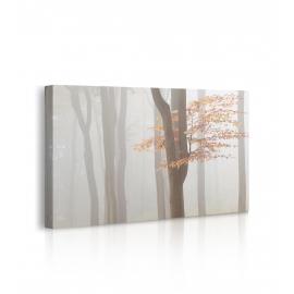 Quadro paesaggio nebbioso parco prospettiva