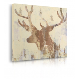 Quadro Golden Antlers II Neutral Grey