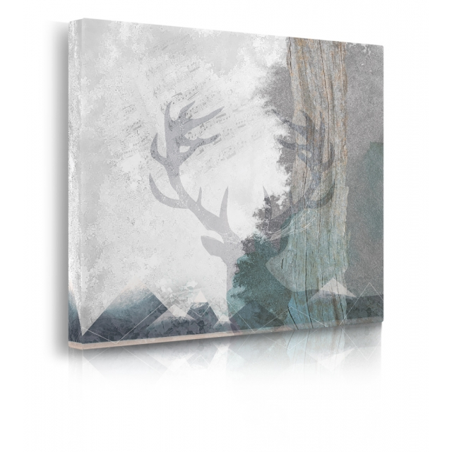 Quadro Deer and Mountains 1