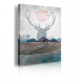 Quadro Deer and Mountains 2