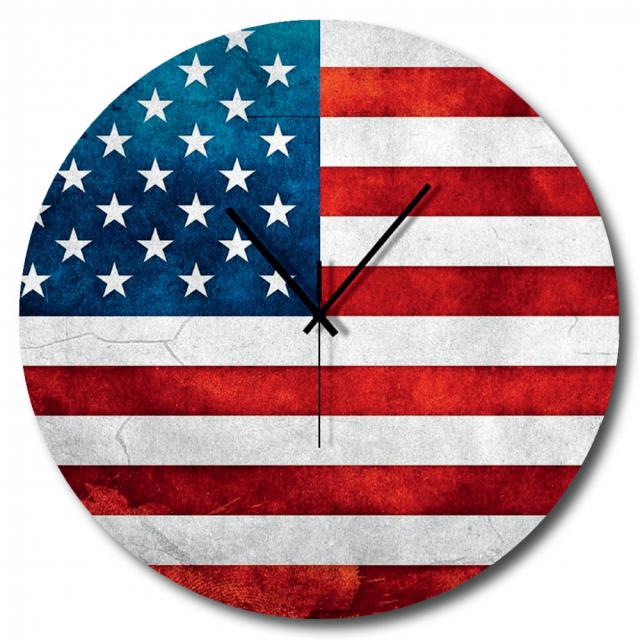 Orologio bandiera americana